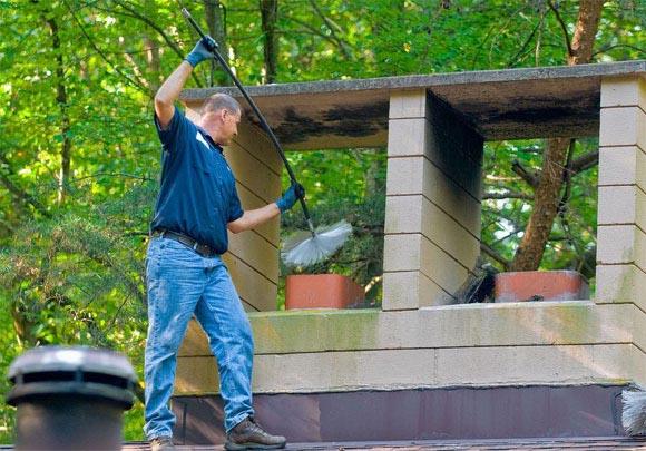 Чистка дымохода сколько стоит выход на крышу трубы дымохода