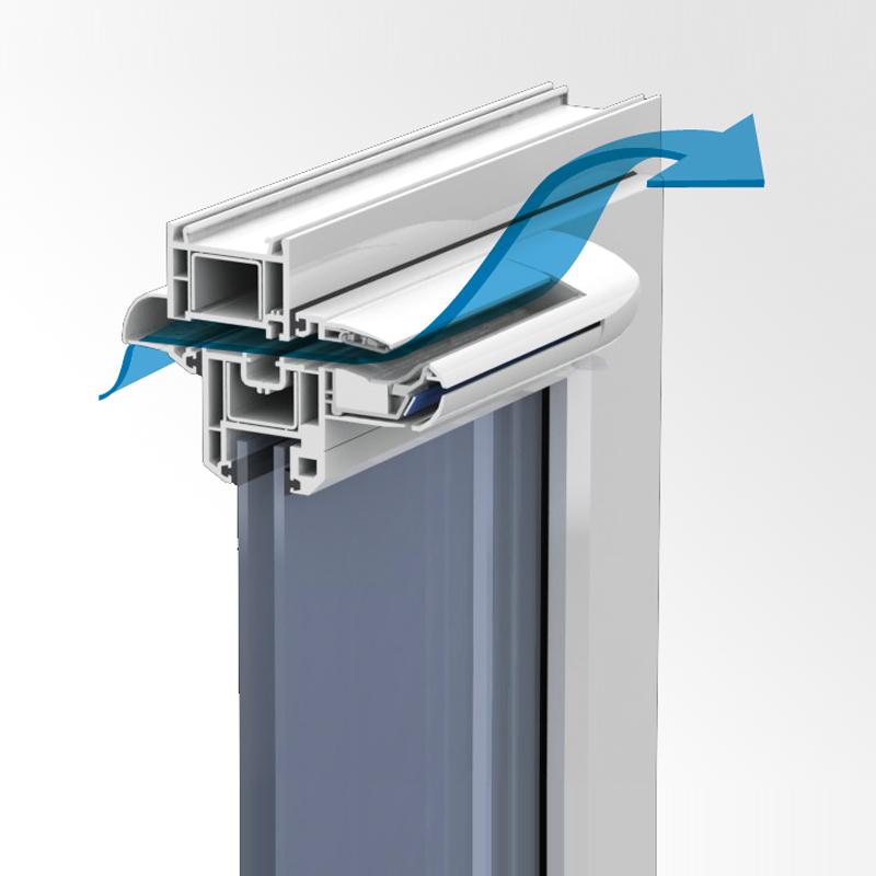 Монтаж оконного проветривателя (приточного клапана) от компании Укрспецпроектсервис