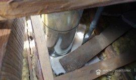 Монтаж вентиляционной трубы, наращивание вентиляционного канала в связи с надстройкой +1го этажа