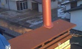 Наращивание дымохода и установка приточных оконных клапанов в коттедже
