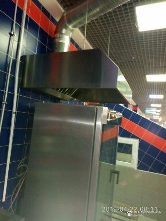 Чистка вентиляции от жира в гипермаркете