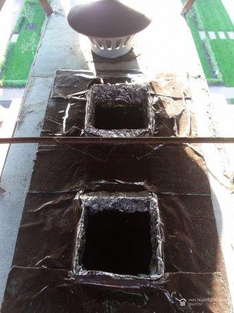 Гильзование дымохода в коттедже