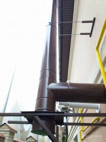 Монтаж вентиляции термо трубами