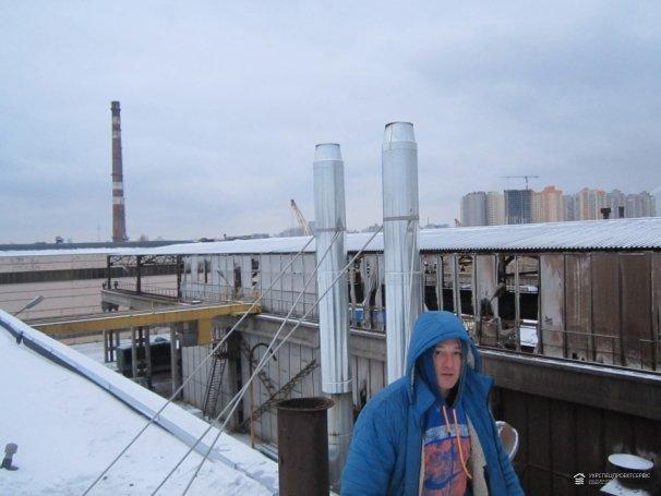 Монтаж дымоходных труб, чистка дымоходов «ГЛАС ТРЁШ УКРАИНА»