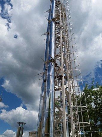 Обследование дымохода и вентиляции на компрессионной станции газопровода